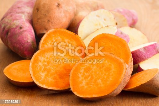 istock Sliced Yellow and White Fleshed Yams 175235391