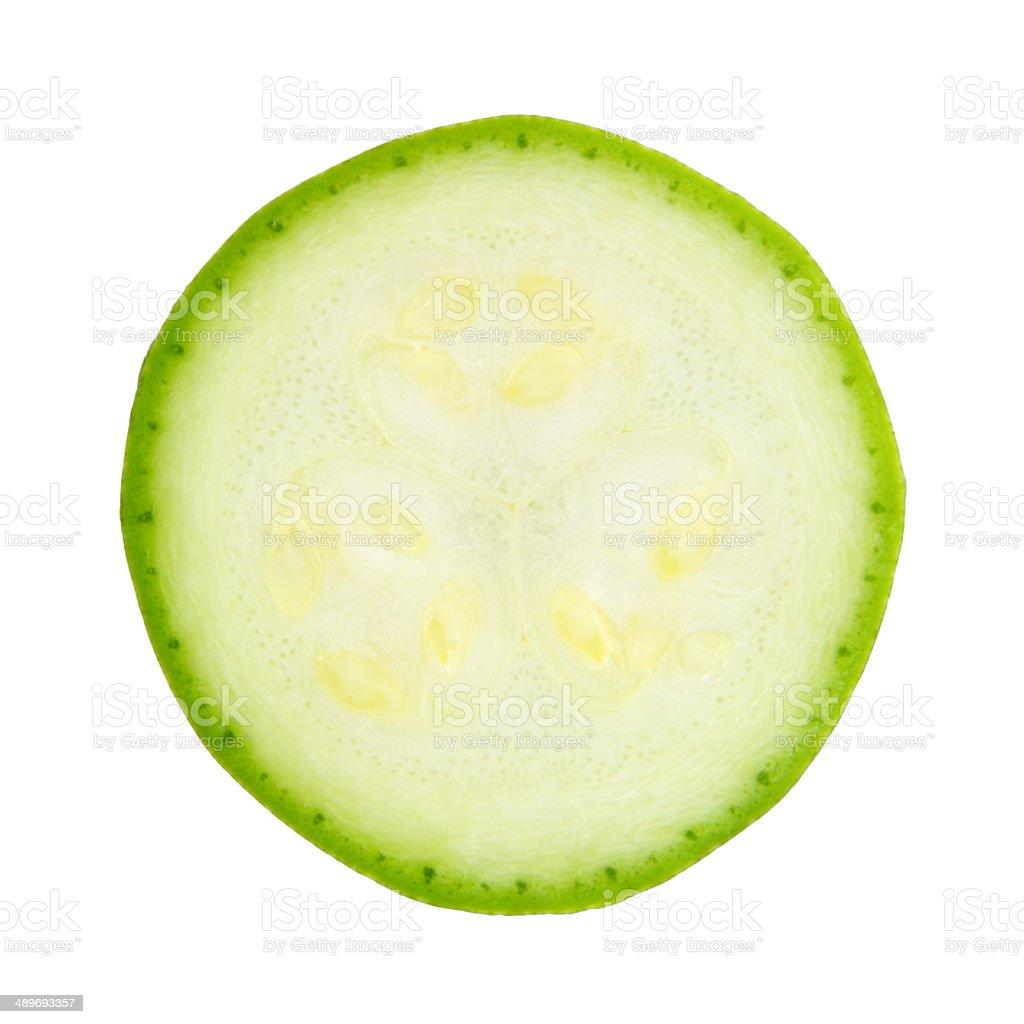 sliced zucchini stock photo