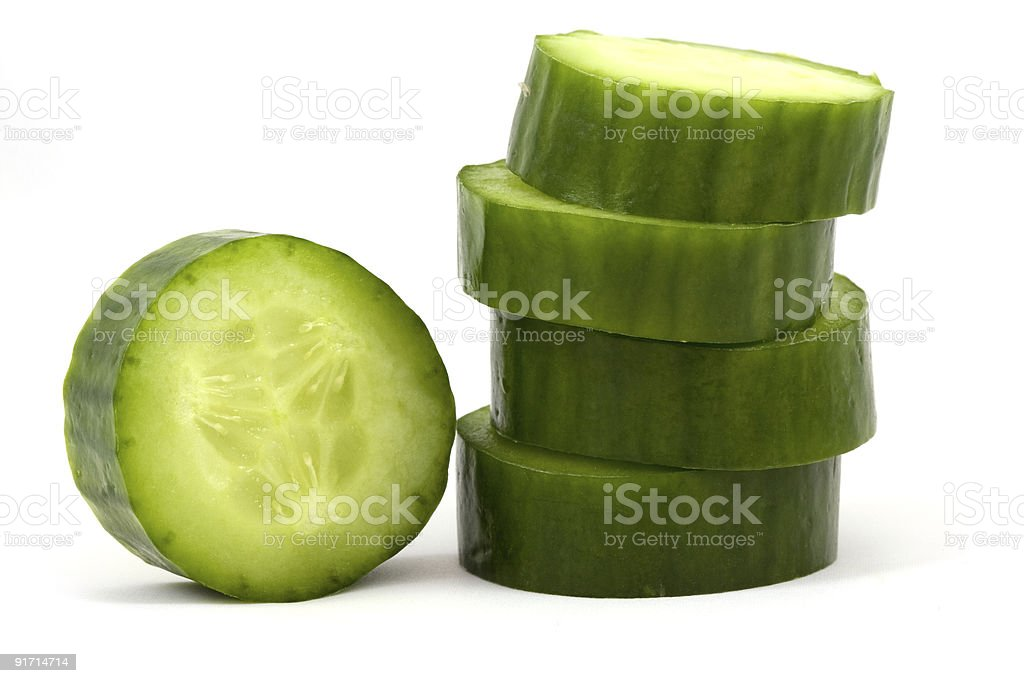 slices cucumber royalty-free stock photo