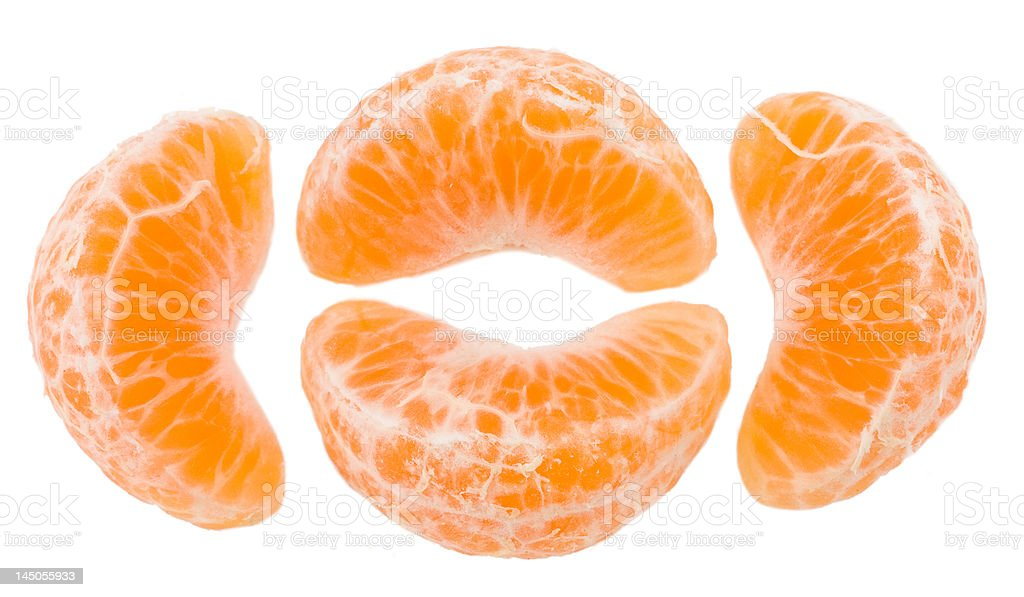 Slices of a tangerine stock photo