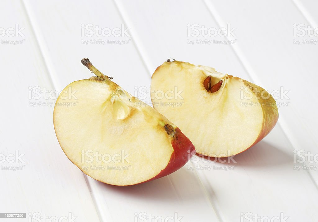 slices of apple royalty-free stock photo