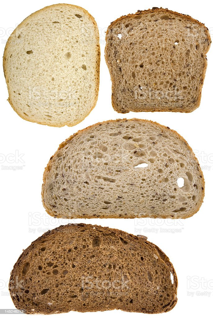 Slices of bread stock photo