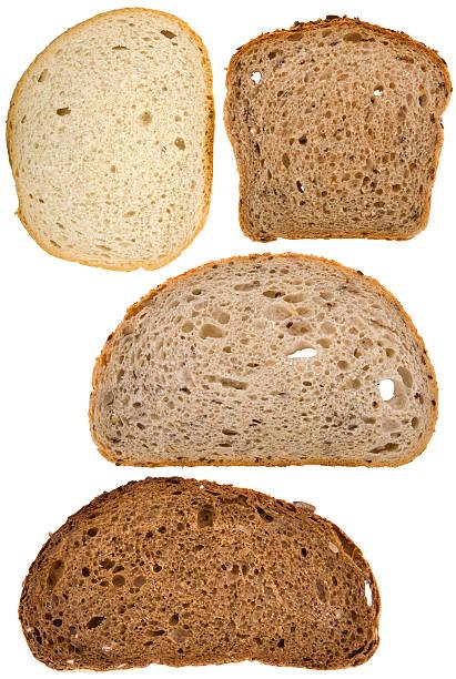rodajas de pan - pan multicereales fotografías e imágenes de stock