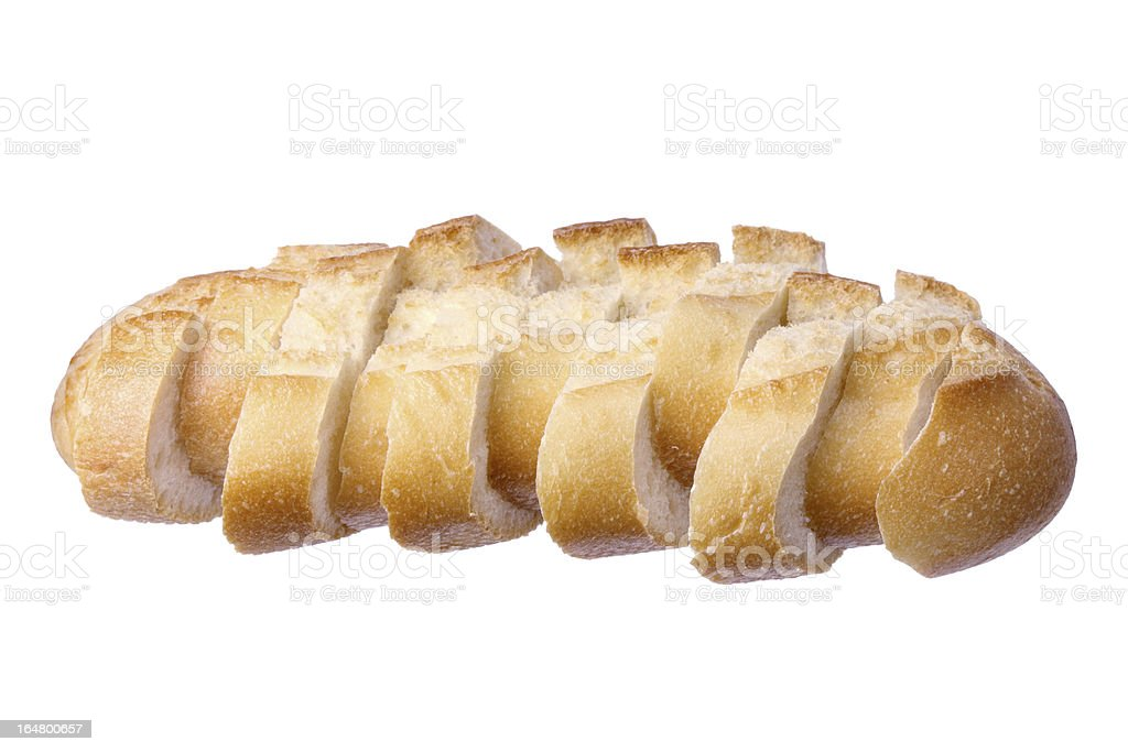Slices of Bread Roll royalty-free stock photo