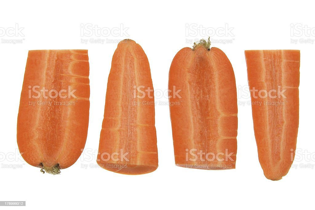 Slices of Carrot royalty-free stock photo