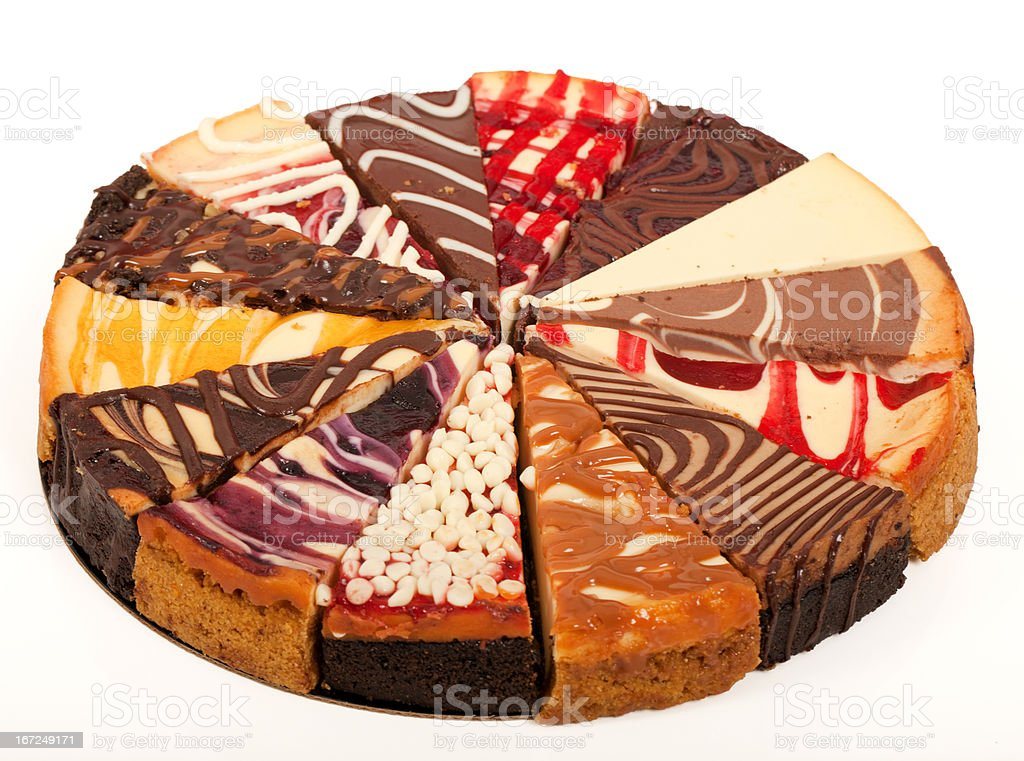 Slices of Cheesecake royalty-free stock photo