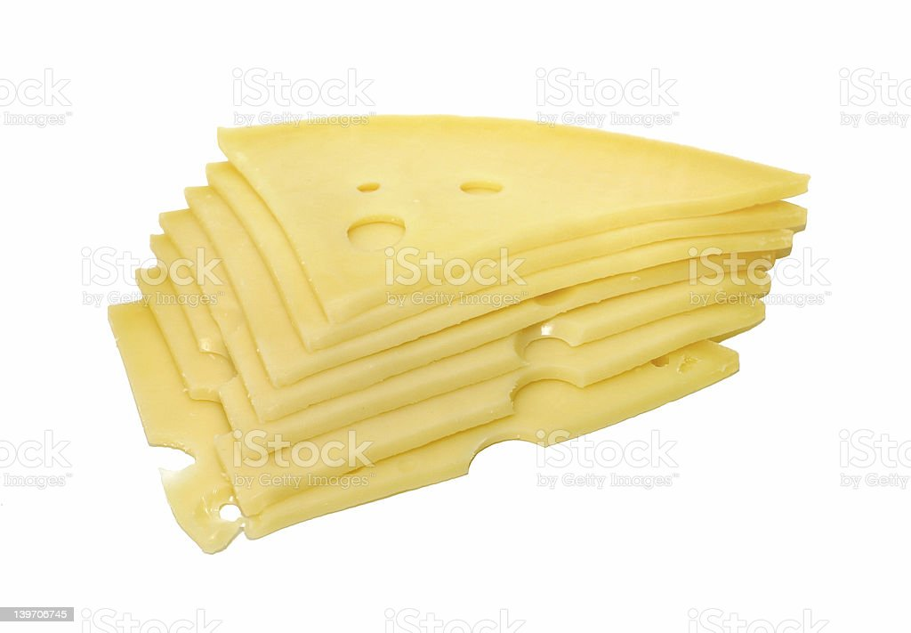 Slices of chese royalty-free stock photo