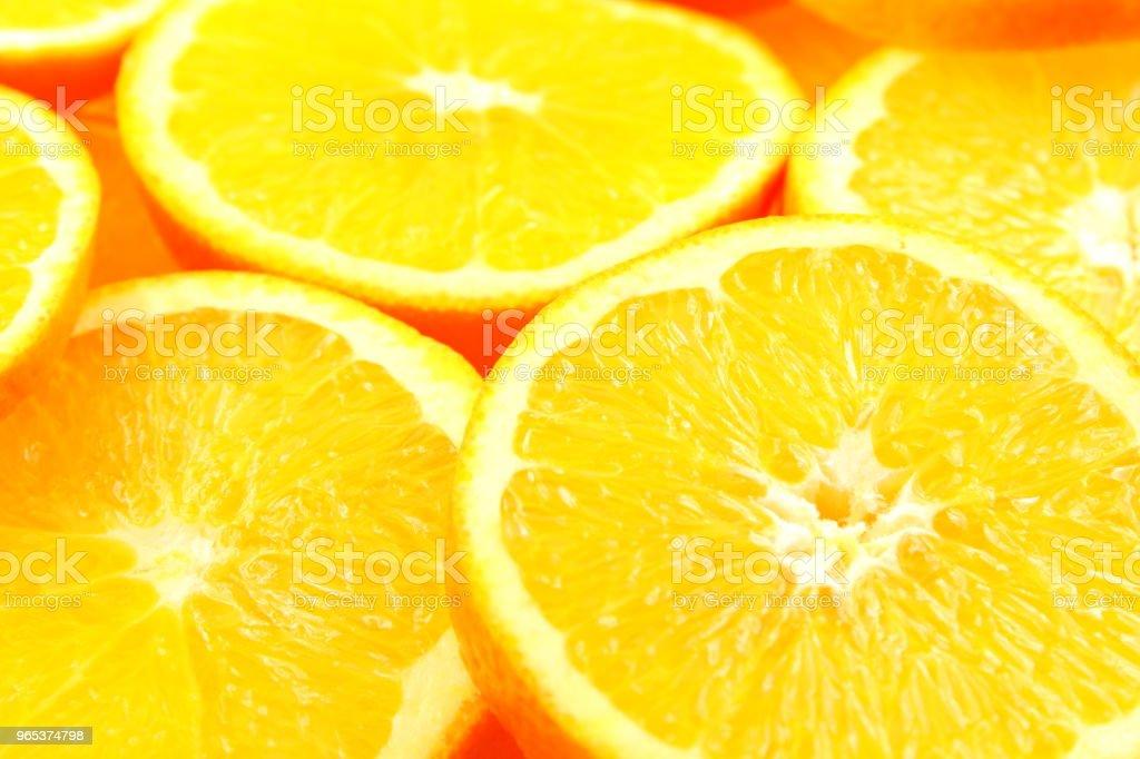 slices of fresh orange fruits food background texture royalty-free stock photo