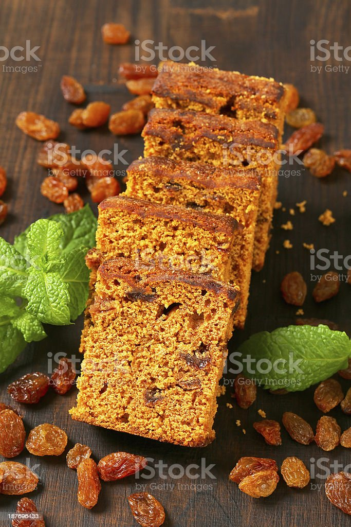 slices of gingerbread cake royalty-free stock photo