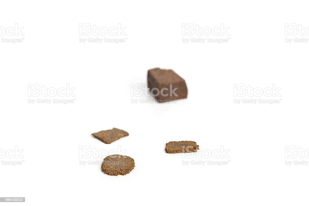 Slices of hashish stock photo