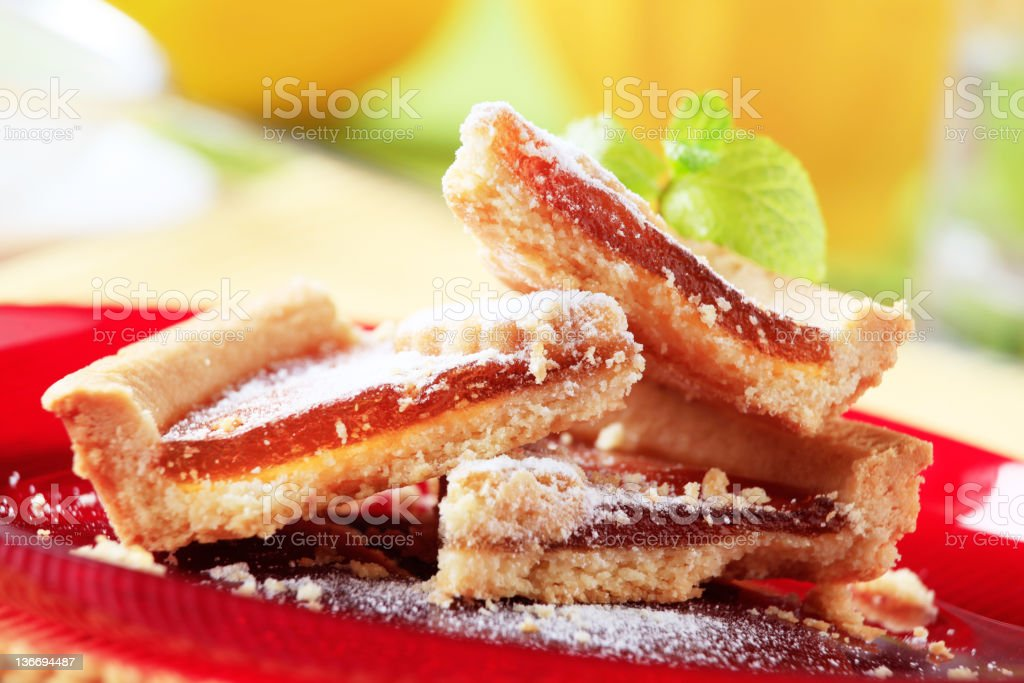 Slices of jelly tart on a plate royalty-free stock photo