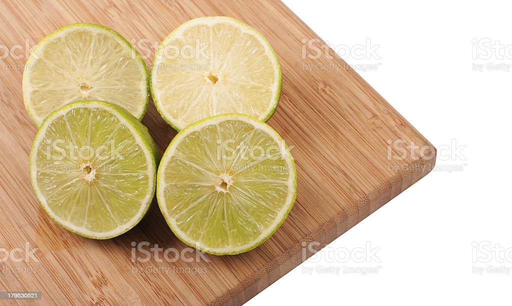 Slices of lemons and limes royalty-free stock photo