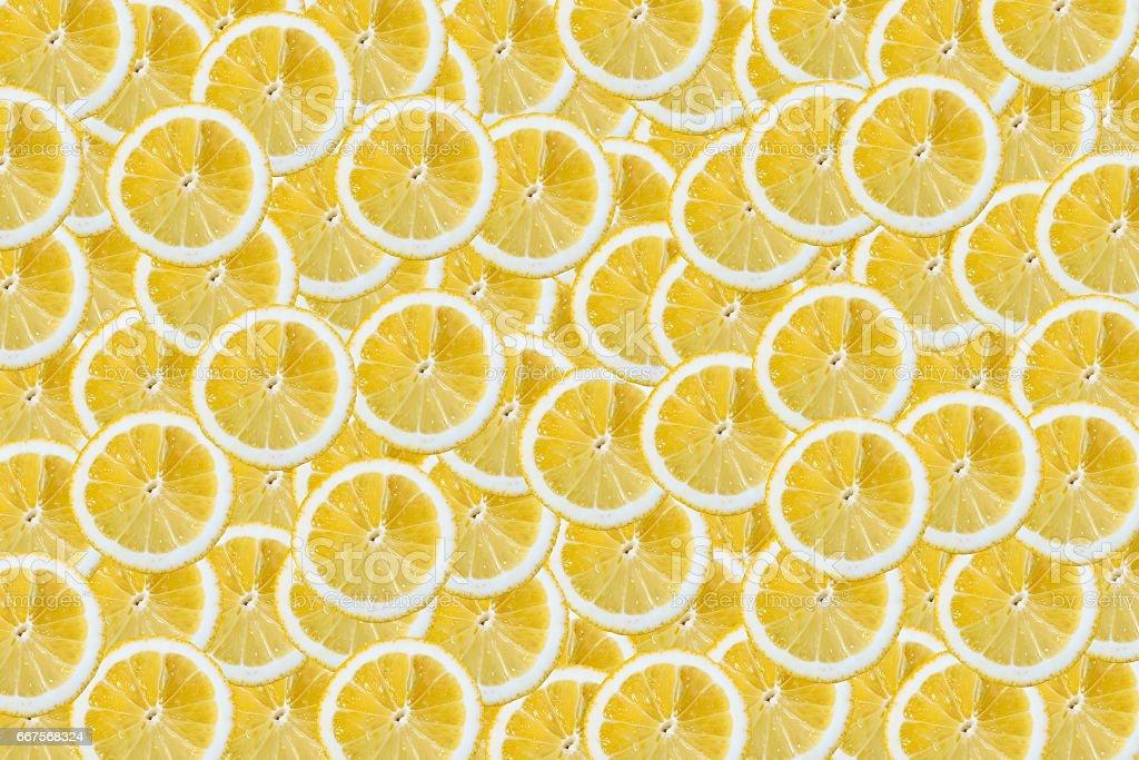 Slices of lemons background stock photo