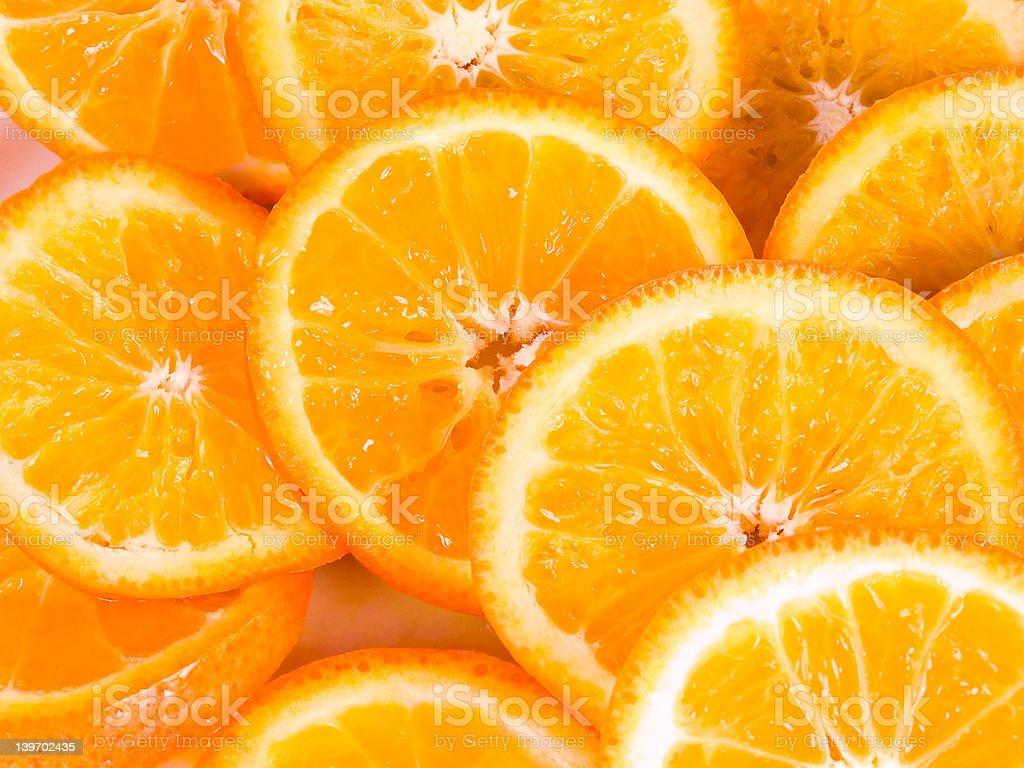 Slices of orange royalty-free stock photo