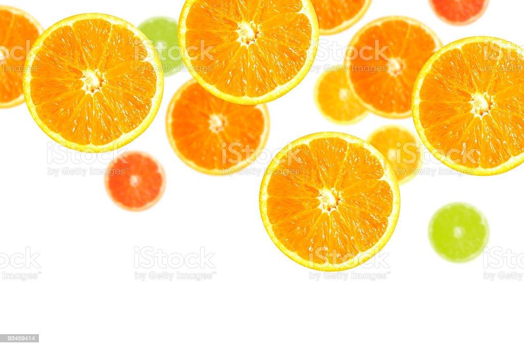 Slices of Oranges stock photo