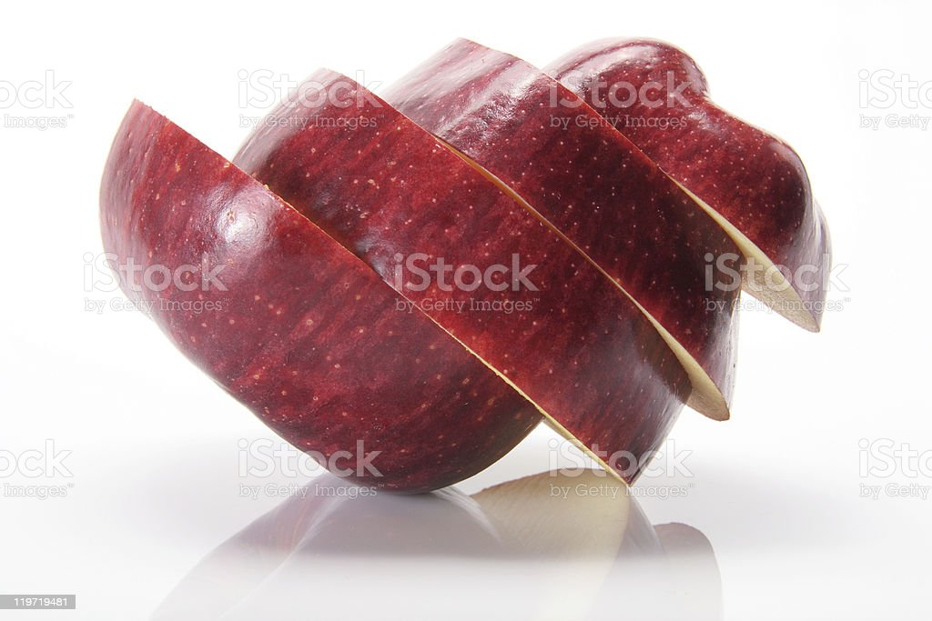Slices of Red Delicious Apple royalty-free stock photo