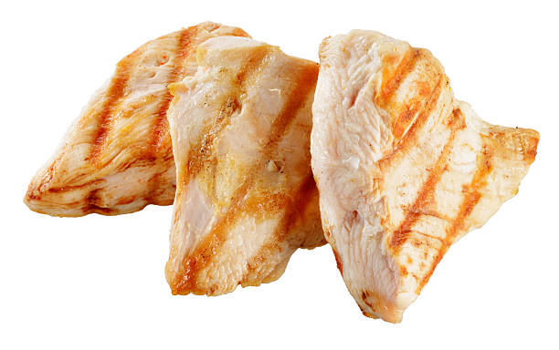 Slices of roasted turkish breast. Slices of roasted turkish breast. grilled chicken breast stock pictures, royalty-free photos & images