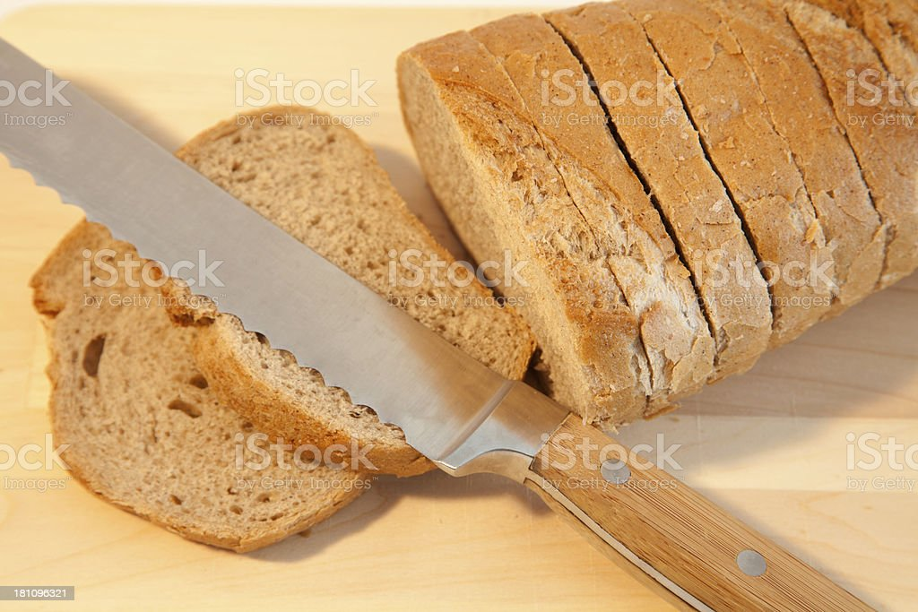 Slices of rye bread royalty-free stock photo