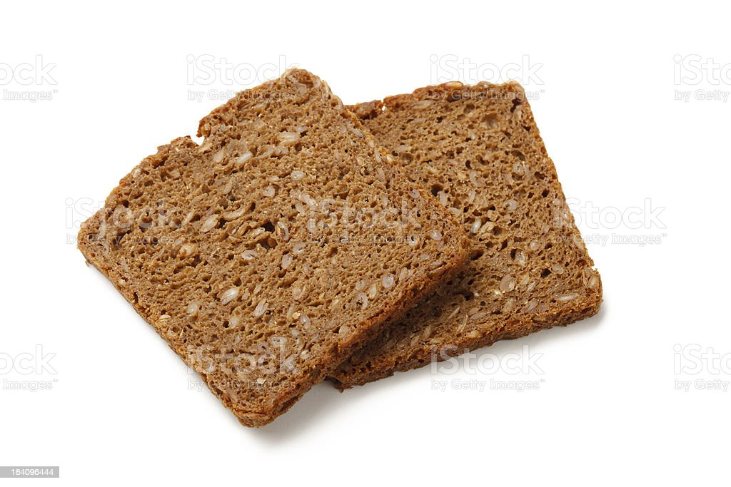 Slices of rye bread stock photo