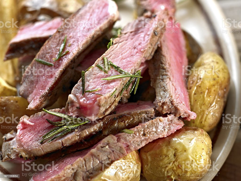 Slices of Steak. royalty-free stock photo
