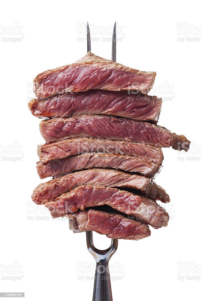 slices of steak stock photo