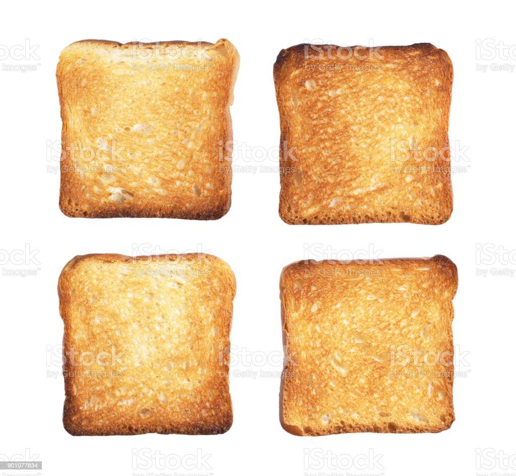 Slices of toast bread stock photo