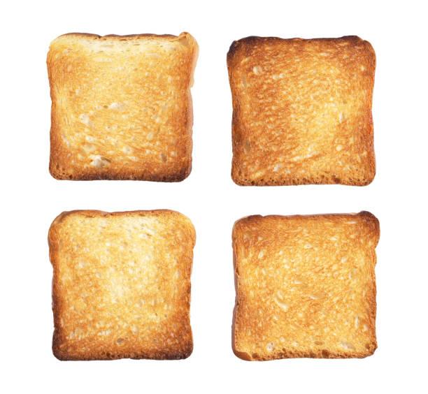 fatias de torrada de pão - torrada - fotografias e filmes do acervo