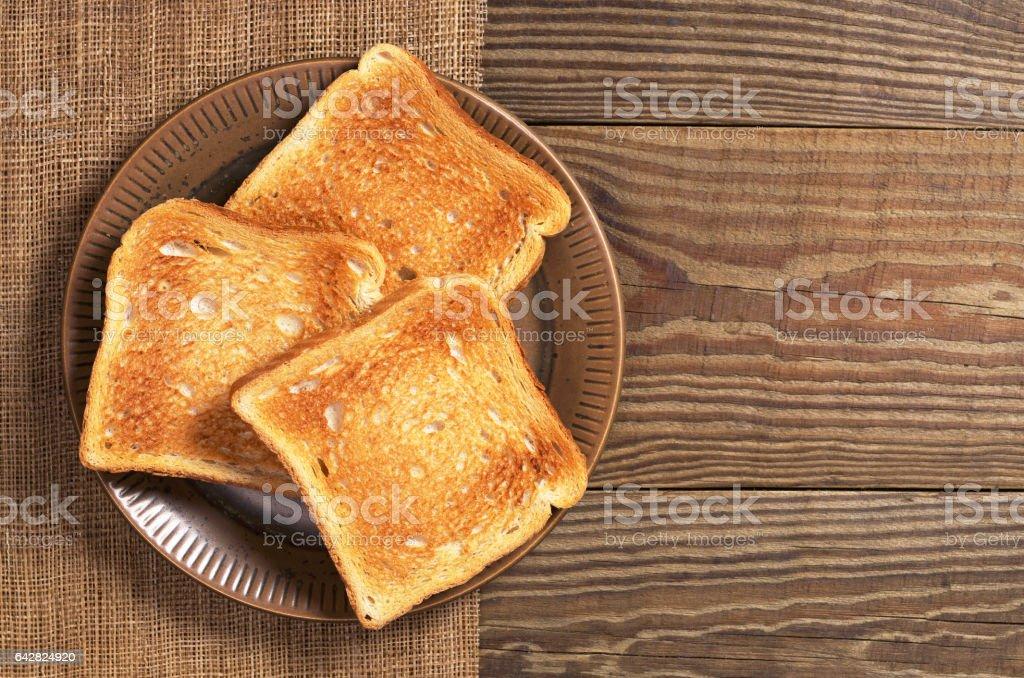 Rodajas de pan tostado - foto de stock