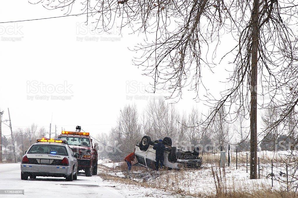 Slick Winter Roads stock photo