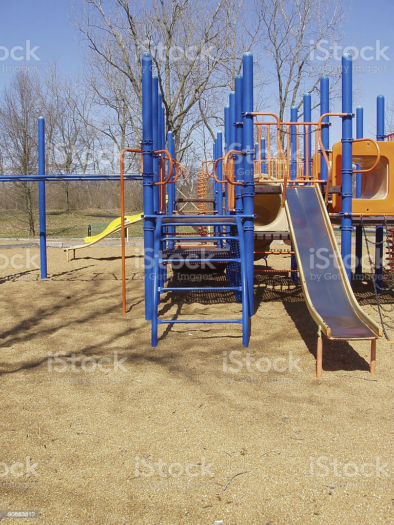 Slide At the Park royalty-free stock photo
