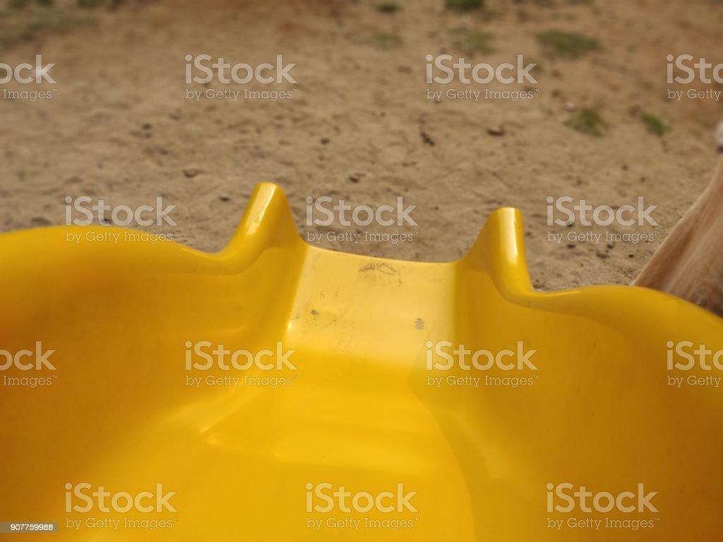 Slide at the playground stock photo