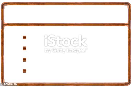 a background image for your next plumbing presentation or for any convincing arguement that has to hold water (isolated on a white background)