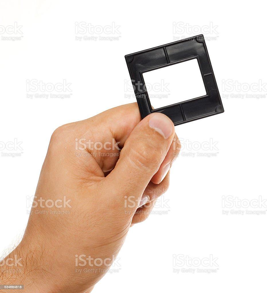 Foto de Slide Quadro De Mão e mais fotos de stock de Dedo humano