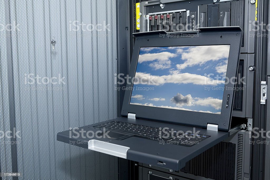 Slide out Laptop (with path) royalty-free stock photo