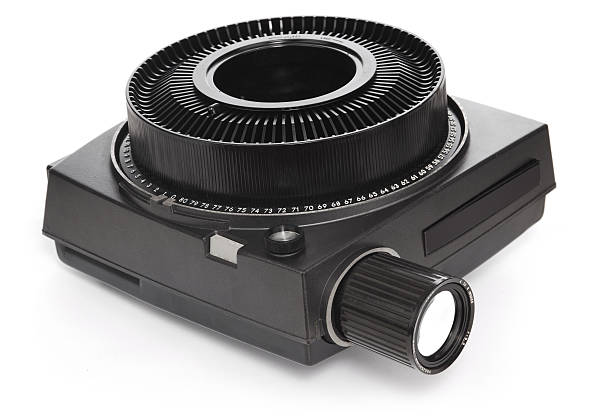 slide projector stock photo