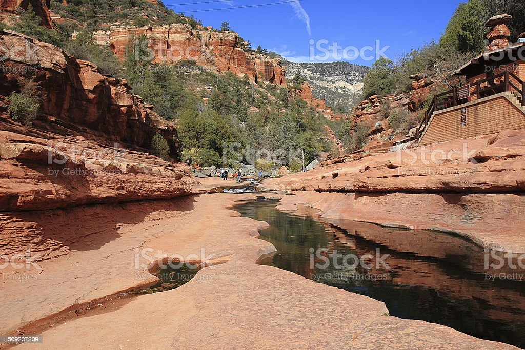 Slide Rock State Park in Oak Creek Canyon, Arizona royalty-free stock photo