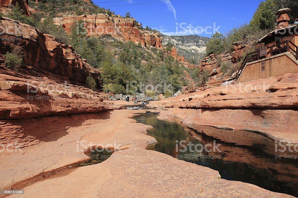 Slide Rock State Park in Oak Creek Canyon, Arizona stock photo