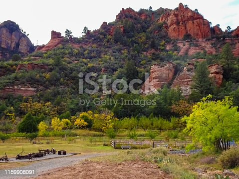Slide Rock State Park outside Sedona Arizona. Famouse for their red rock mountains.