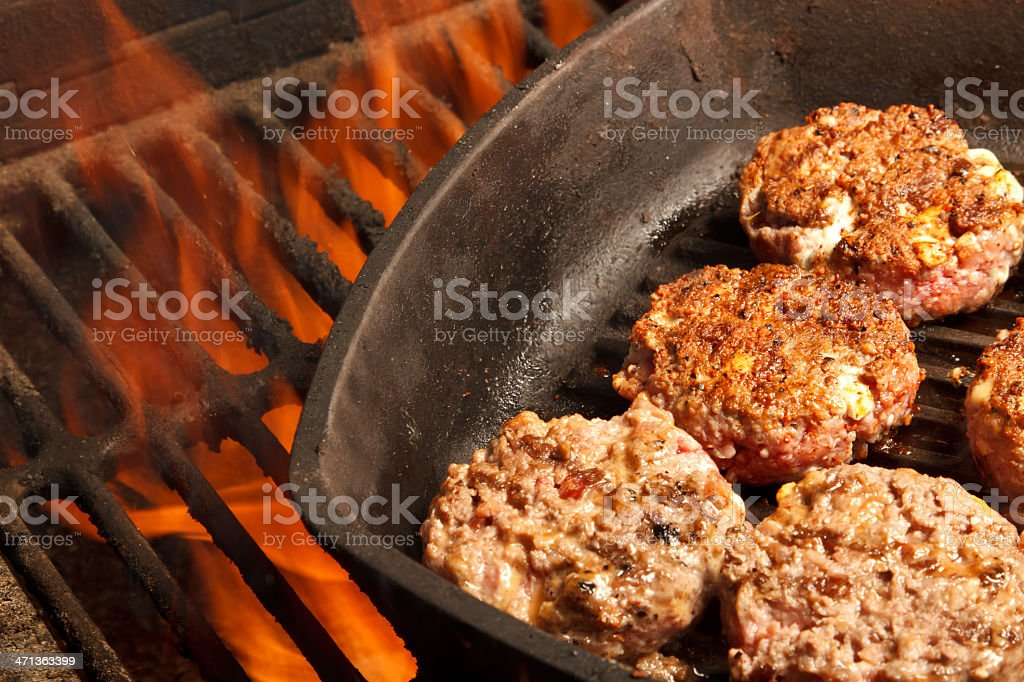 Sliders on a Flame stock photo
