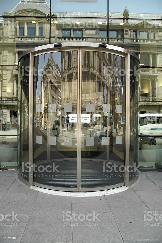 Sliding doors stock photo
