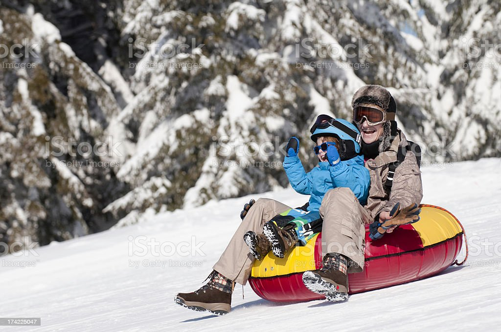 Sliding down the hill royalty-free stock photo