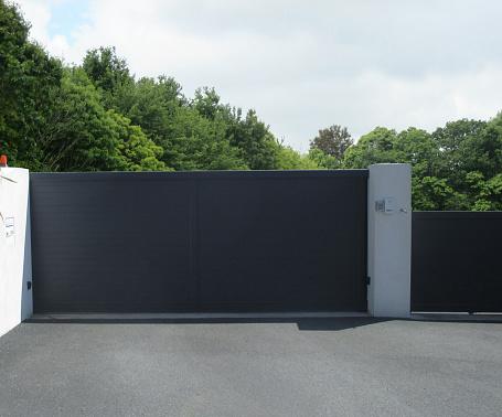 Pvc Sliding Entry Door - Fotografie stock e altre immagini di Architettura