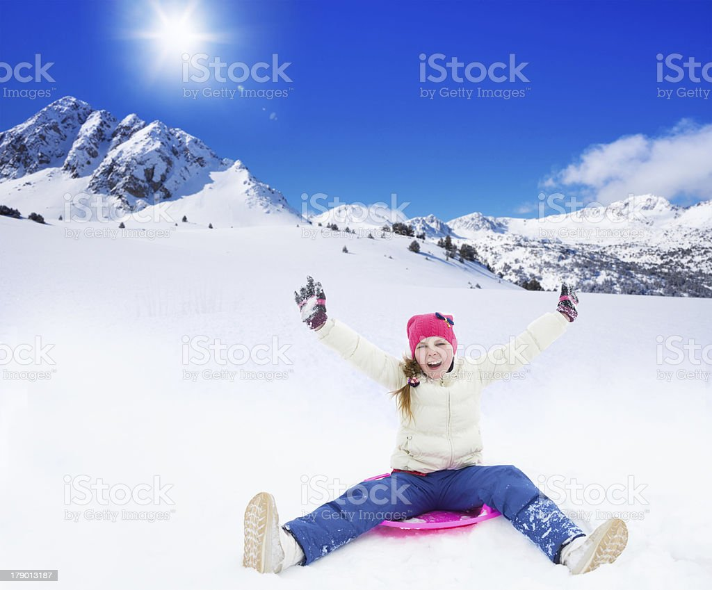 Sliding is so much fun royalty-free stock photo