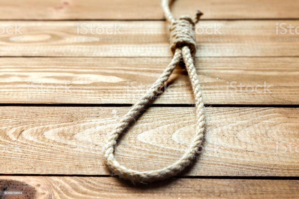 sliding knot stock photo