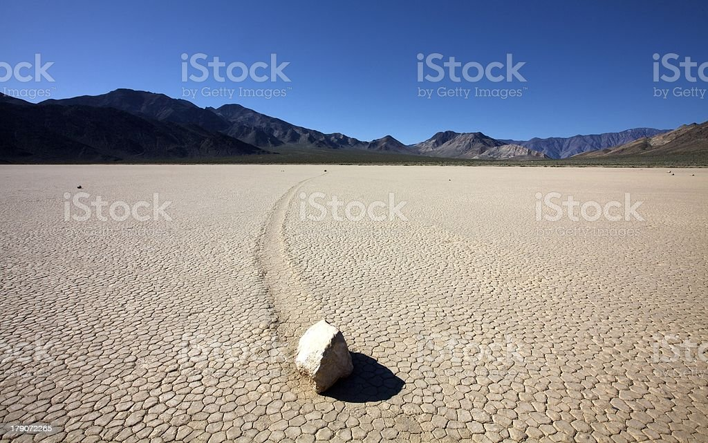 Sliding Rocks at Death Valley stock photo