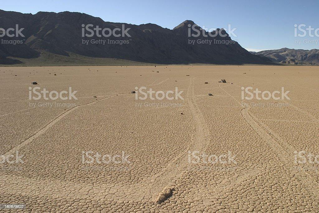 Sliding Rocks, Racetrack Playa, Death Valley stock photo