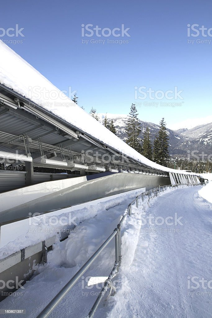 Sliding Track stock photo