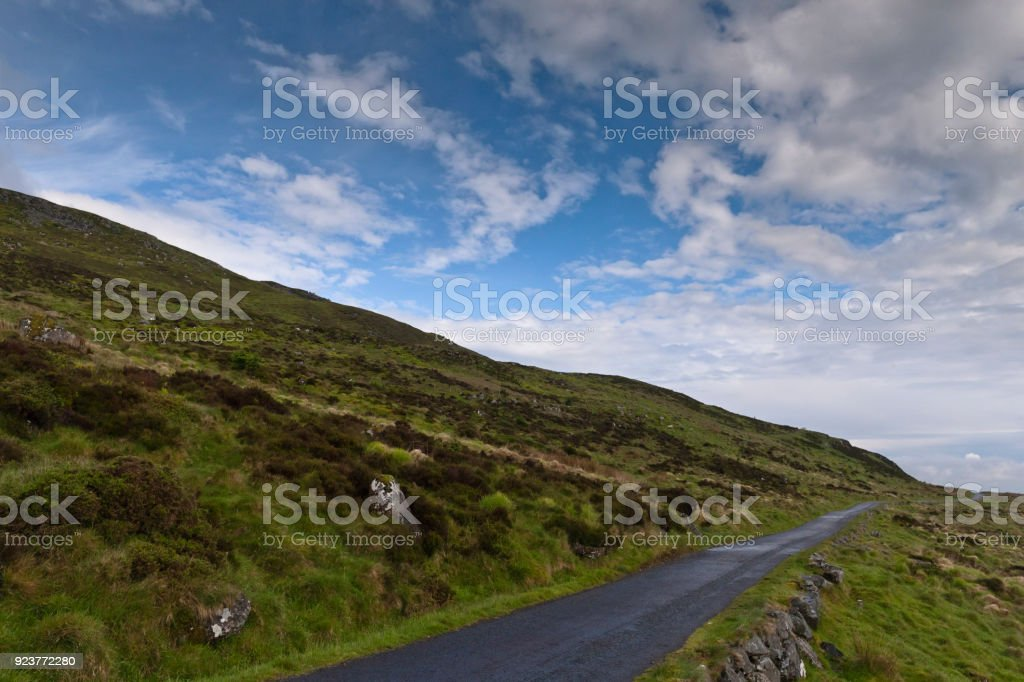 Slieve Gullion Slope and Forest Road stock photo