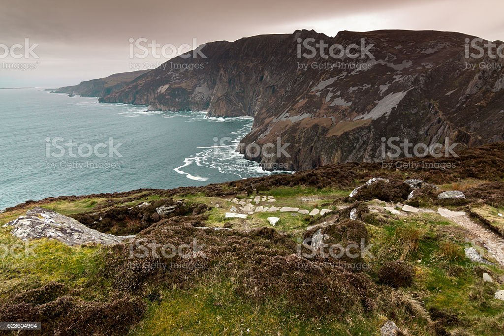 Slieve League, county donegal, ireland stock photo