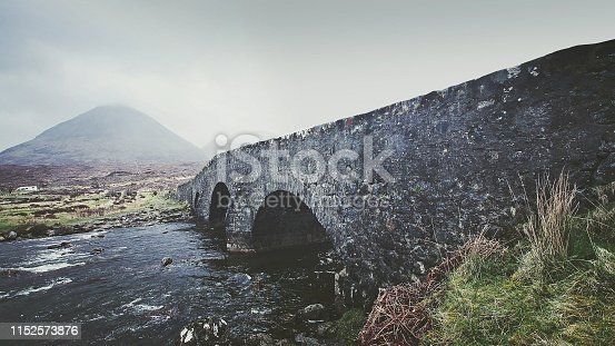 Old Sligachan bridge in Scotland. Isle of skye. Inner Hebrides